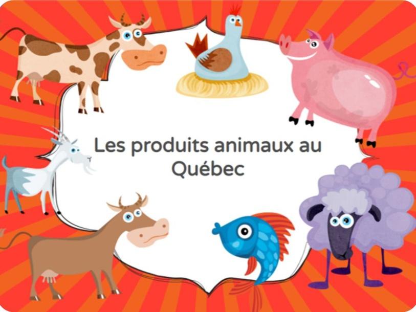 Jeunesse-Les produits animaux au Québec by SAAC FSAA Université Laval