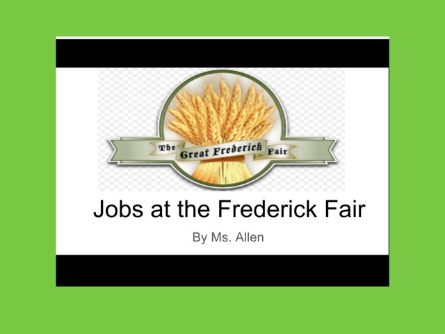 Jobs at the Frederick Fair Activity by Racquel allen