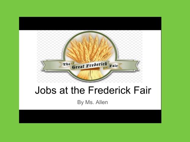 Jobs at the Frederick Fair by Racquel allen