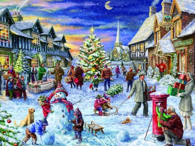 Joel's Winter Scene by Mr Parkinson