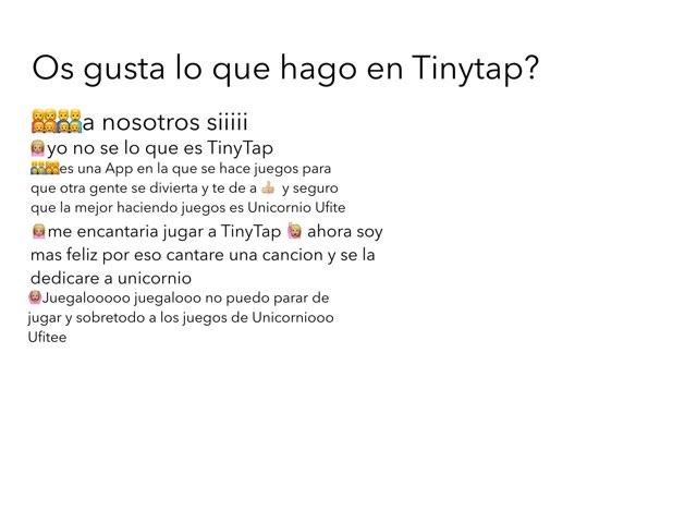 Juega A TinyTap Que Es Super Diverrr by Unicornio Ufite