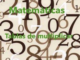 Las Tablas de multiplicar by Alona yefimova terebenets