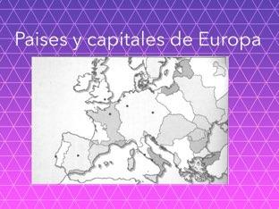 Este juego te ayuda a mejorar las difultades que tienes con los Paise y Capitales de Europa by Pablo niño