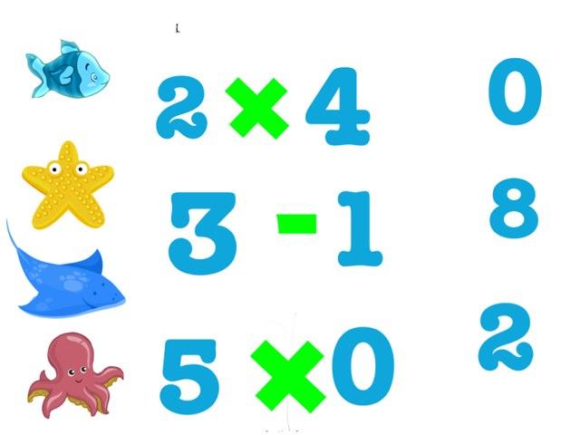 Esto es matemática en multiplicaciones y subtraciones by Maria Alanis