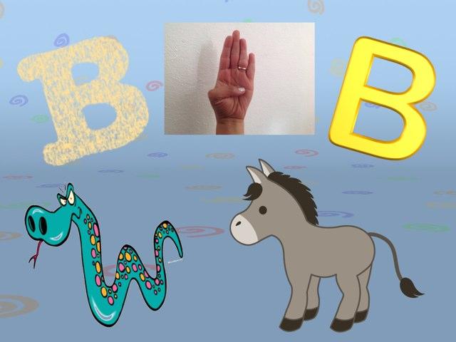 Aprendiendo la letra Bb en lengua de señas mexicana by Pao Mancera