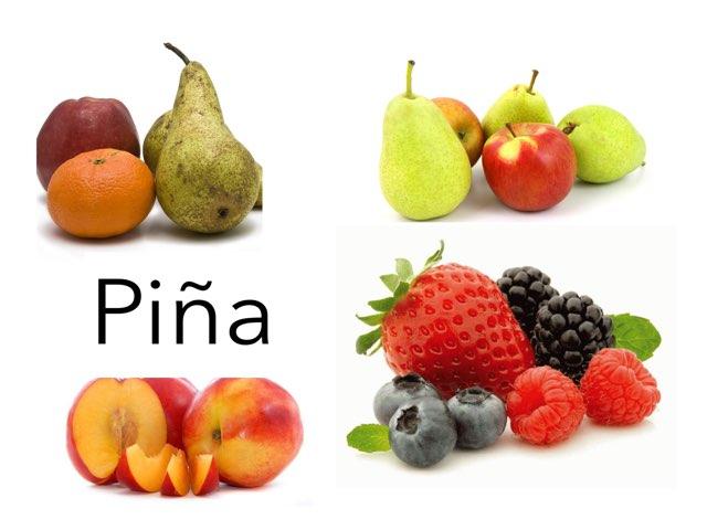 Reconocer las frutas Desde los 6 hasta los 9 años  by Curso CFTIC