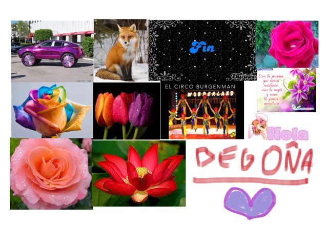 Puzzle de flores,perros,coches y nombres by Sandra Gómez Navas