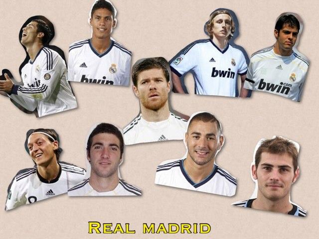 Jugadores Del Real Madrid by Paz Gonzalo