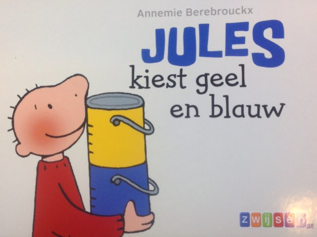 Jules Kiest Geel En Blauw by Wilma DeVente