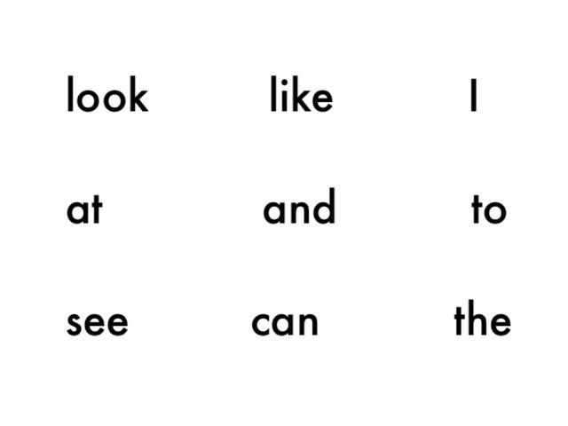 K:  Sight words by LLI Teacher