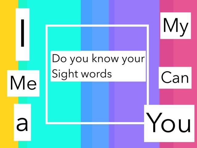 Kinder Sight Words Game 1 by Mindy Eschenburg