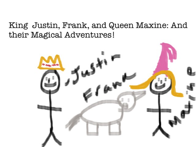 King Justin and Queen Maxine  by Max Abrams