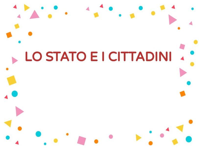 LO STATO E I CITTADINI by Rosa Magrì