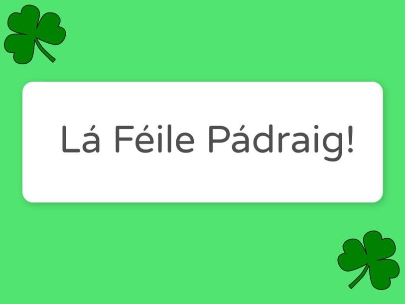Lá Féile Pádraig - Find and Click by Máirín Byrne