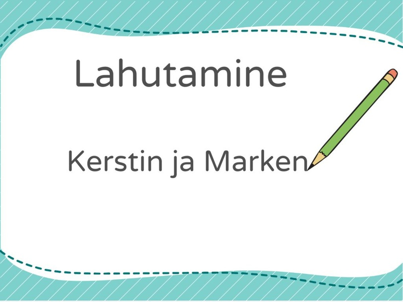 Lahutamine by Kerstin Kalda