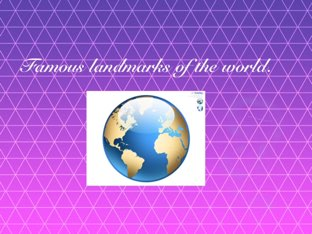 Landmarks Of The World. by Sandford Hill