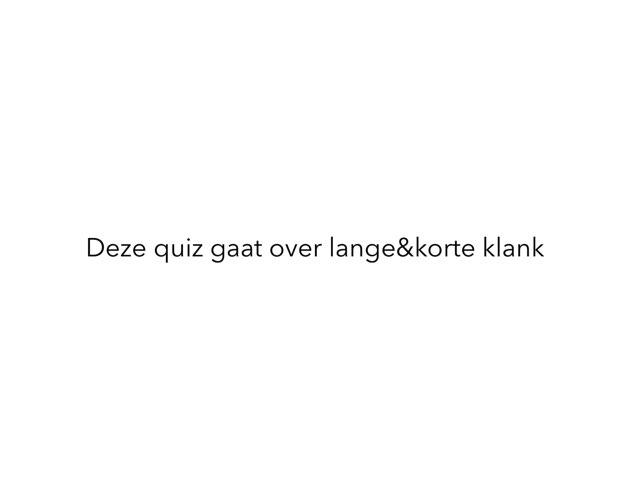 Lange Korte Klank by Ruben schmidt