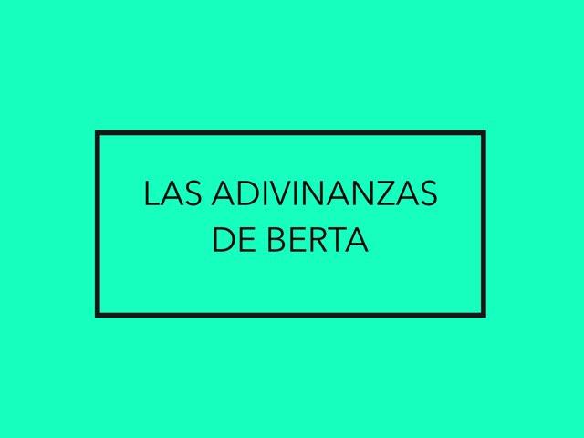 Las adivinanzas de Berta by Diego Campos