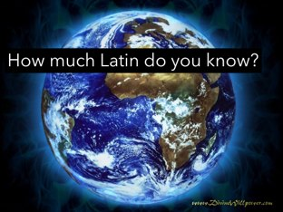 Latin Quiz 1 by Fiona Crean