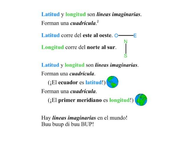 Latitud y longitud by Allison Shuda