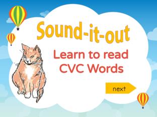 Learn to Read CVC Words  in the 'a' family by Joanne Arrowsmith