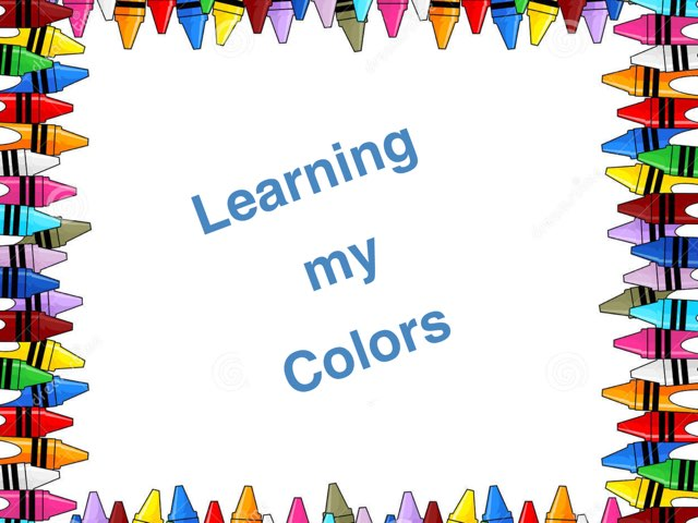 Learning My Colors by Rhonda blosser