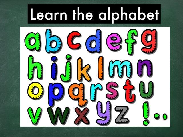 Learning the alphabet by Rosalva Correa