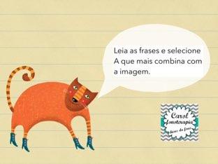 Leitura de frases. by Carolina Araújo