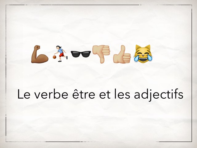 Les Adjectifs by Mlle Decker