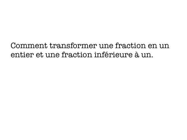 Les Fractions by Christophe Caron