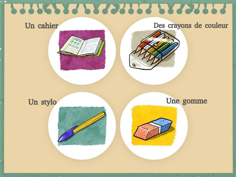 Les fournitures scolaire by Nadia Abbadi