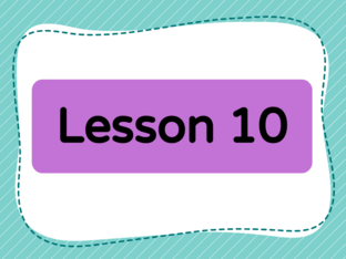 Lesson 10 (Level 1) by Lily Ho