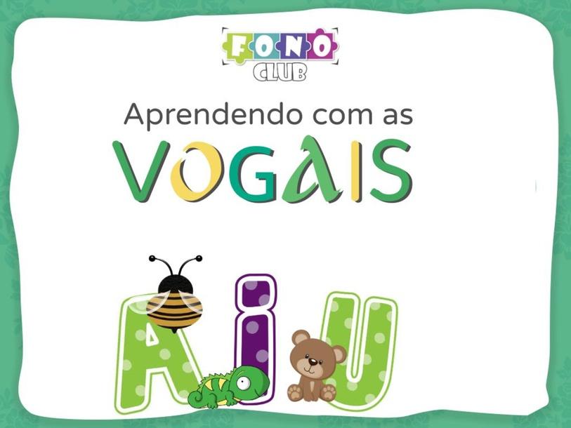 Letra inicial VOGAIS by Ana Carolina Povoa