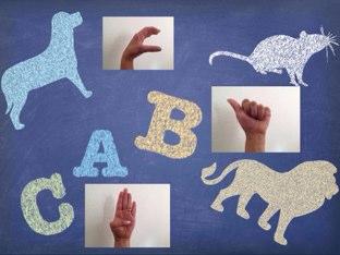 Letras A, B Y C en LSM by Pao Mancera