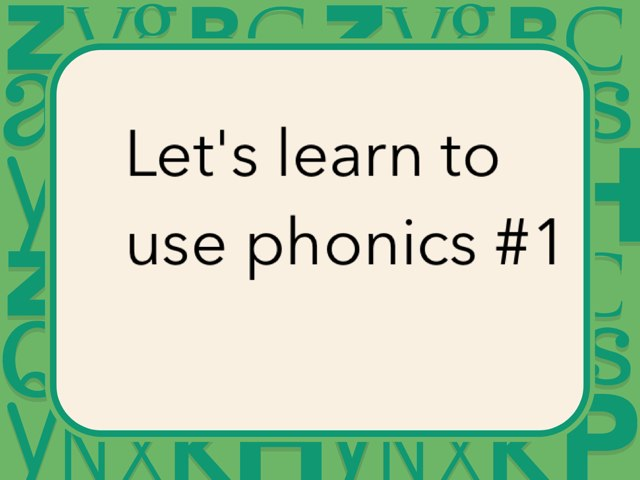 Let's Learn Phonics #1 by Marley Brooke