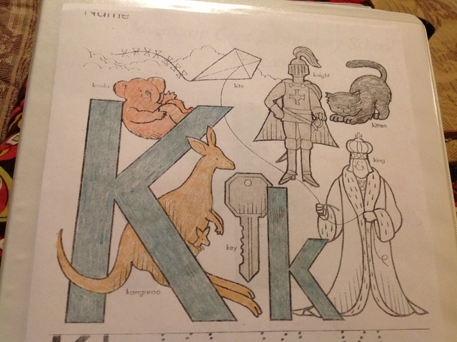 Letter K by Christine Snow