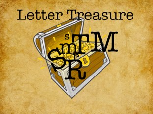 Letter Treasure R,S,M,T by Hannah Stork