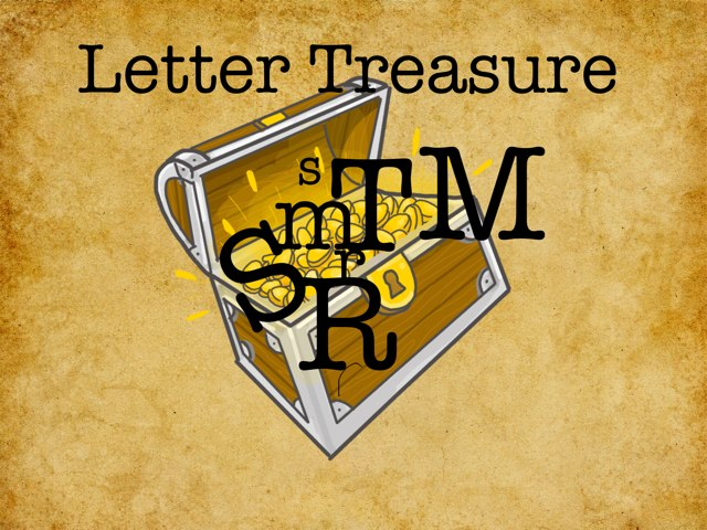 Letter Treasure R,S,M,T by Hannah Stork