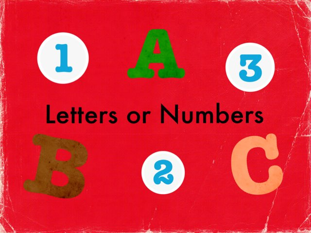 Letters Or Numbers by Angela Broussard