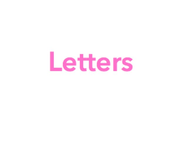 Letters by Chelsea Danique