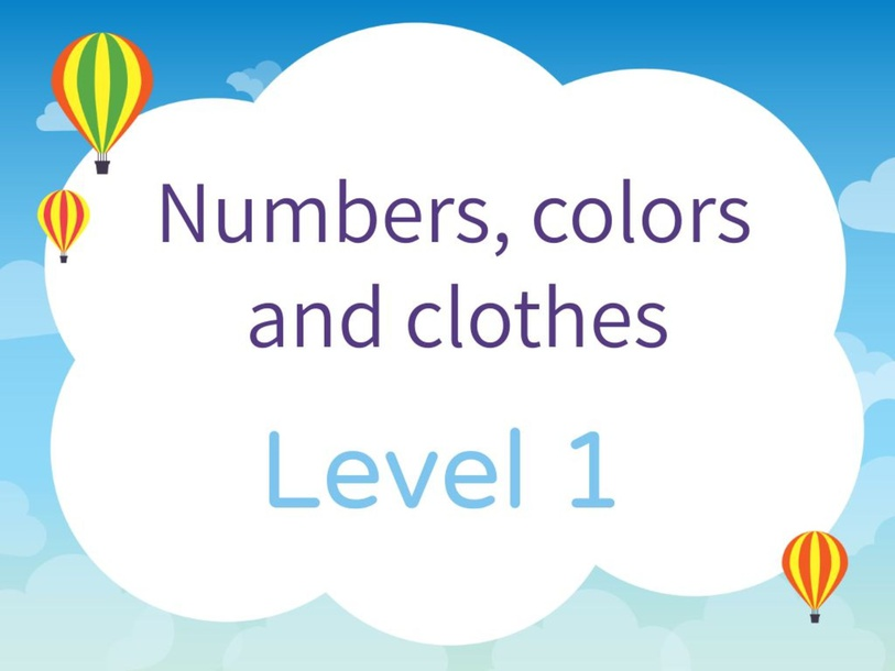Level 1 - Numbers by Leslie Lev