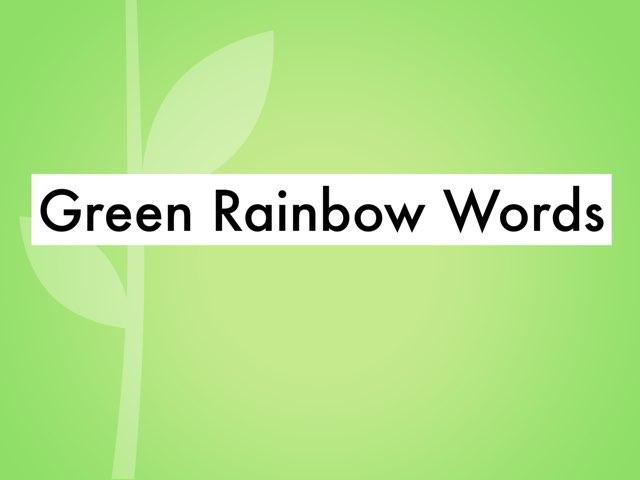 Lex1 Green Rainbow Words by Jeff Faulk
