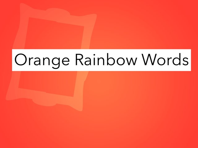 Lex1 Rainbow Words Orange by Jeff Faulk
