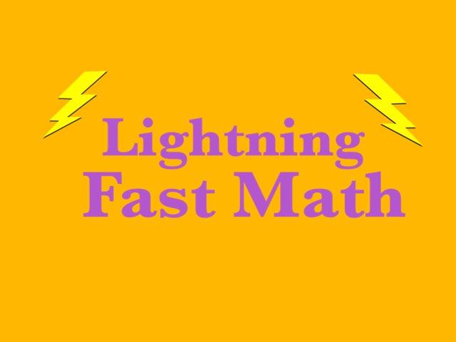 Lightning Fast Math by Luke Fi