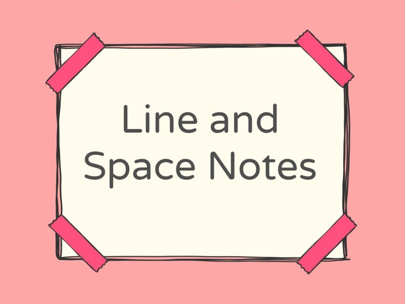 Line and Space Notes by Jean Nads