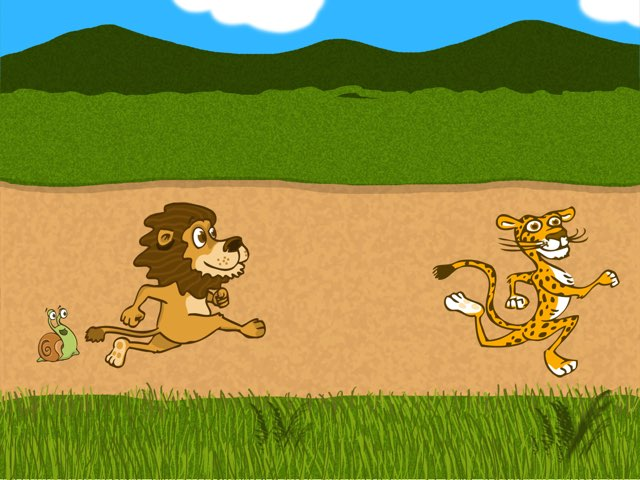 Lion Chase by Edventure More -  Conrad Guevara