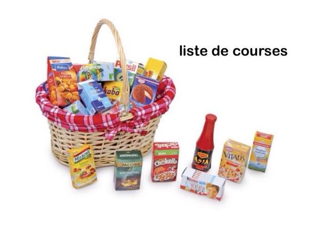 Liste De Courses by Saja Enfant