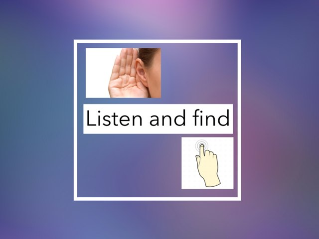 Listen And Find by Julie Gittoes-Henry