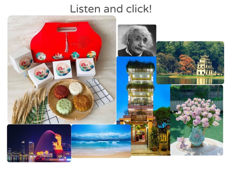 Listen and click! by Thanh Thúy