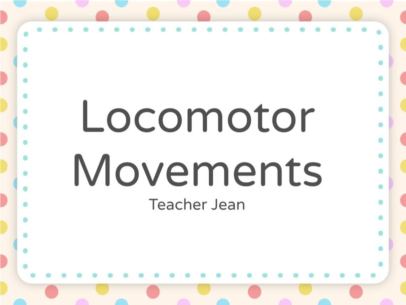 Locomotor Movements by Jean Nads